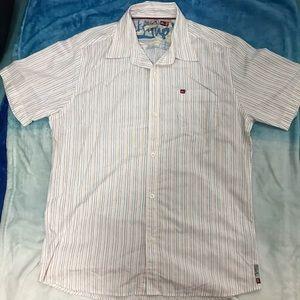 Quicksilver Men's Stripe Short Sleeves ButtonShirt